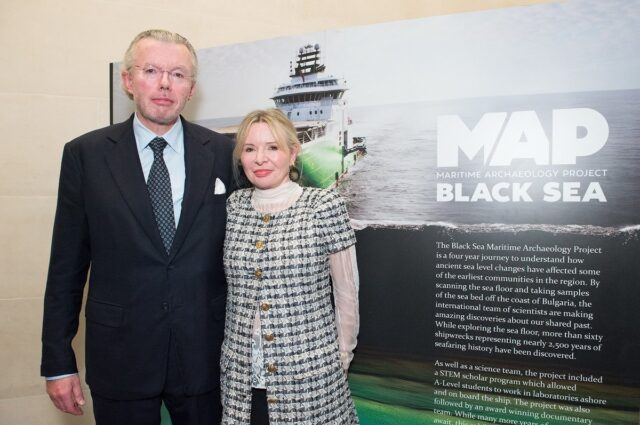 Hans and Julia Rausing at the premier of the Black Sea Map Expedition