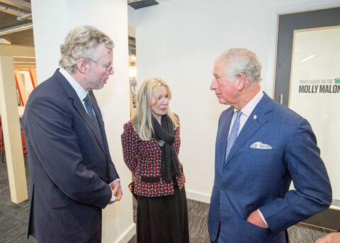 HRH Prince of Wales opens Prince's Trust new building with Julia and Hans Rausing